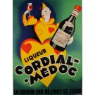 "Original Vintage French Poster Liquor ""Cordial- Medoc"" by Le Monnier 1950's"