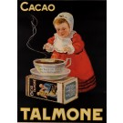 Original Vintage Advertising Poster tor Cacao Talmone ca. 1940