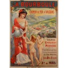 "Original Vintage French Travel Poster ""La Bourboule"" Spa Resort ca. 1900"