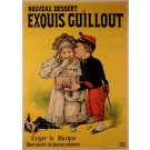 "Original Vintage French Poster ""Exouis Guillout"" Egg Cookies  by H. Gray 1890"