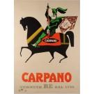 "Original Vintage Italian Poster ""Carpano"" Punt e Mes by Armando Testa 1953"