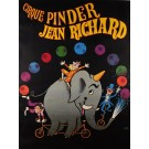 "Original Vintage French Poster ""Cirque Pinder"" Jean Richard  by Hervé Morvan"