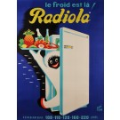 "Original Vintage French Poster for ""Radiola"" Refrigerator by Ravo René 50's-60's"