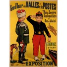 "Original Vintage French Poster ""Grand Bazar des Halles et des Postes""  by Gray"