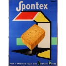 "Original Vintage French Poster Advertising ""Spontex"" Sponges by Villemot 1970's"
