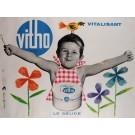 "Original French Poster Advertising ""Vitho"" Dairy by Alain Gautrier 1960's"