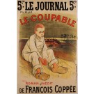 "Original Vintage French Poster for Coppee's ""Le Coupable"" by Steinlen 1896"