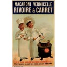 "Original Vintage French Poster Advertising ""Macaroni Vermicelle"" Pasta ca. 1920"