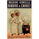 "Original Vintage French Poster Advertising ""Macaroni Vermicelle"" Pasta ca. 1920"