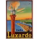 "Original Italian Alcohol Poster ""Luxardo"" Liqueur Maraschino Zara 1950's"