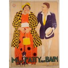 "Original Vintage French Movie Poster Advertising ""Miss Fatty au Bain"" by Roberti"