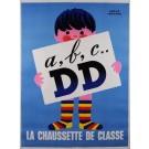 "Original Vintage French Poster Advertising ""Doré  Doré"" DD Socks by Hervé Morvan"