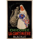 "Original Vintage French Poster for ""Chicoree La Cantiniere"" Coffee Cafe by DUPIN"