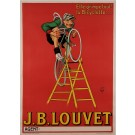 Orginal Vintage French Poster  for the J. B. Louvet Bike and Tire Company