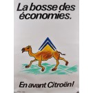 Original Vintage French Poster Advertising CITROEN Cars by Savignac ca. 1980