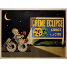 "Original Vintage French Poster Advertising ""Creme Eclipse"" Polish by E. Bernard"