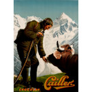 "Original Vintage Swiss Poster for ""Chocolat Cailler"" 1950's"