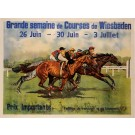 "Original Vintage French Entertainment Poster for ""Grande Semaine"" 1920"
