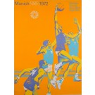 "Original Vintage Poster Advertising ""Munich 1972 Olympic Games"" Basketball"