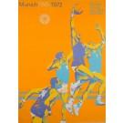 "Original Vintage Poster Advertising ""Munich 1972 Olympic Games"" Basketball"