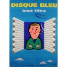 Original Vintage French Poster for Disque Bleu Cigarettes by Fix-Masseau 1950's