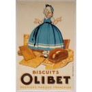 "Original Vintage French OVERSIZE Poster for ""Biscuits Olibet"" by Rene Vincent 1933"