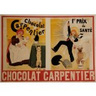"Original Vintage French OVERSIZE Poster for ""Chocolat Carpentier"" by H. Gerbault ca. 1895"