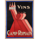 "Original Vintage French Art Deco Poster ""Vins Camp Romain"" Wine by L. Gadoud"