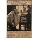 "Original Vintage British Poster for ""Orphelinat des Armees"" by Brangwyn ca. 1900"