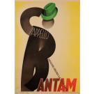Original Vintage Italian Art Deco Poster Advertising Bantam Hats by G. Boccasile