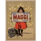 "Original Vintage French Poster for the Cacao drink ""Maggi"" d'apres Firmin Bouisset"
