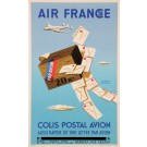 "Original Vintage French Poster for""Air France Colis Postal Avion"" by H. Morvan"