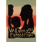 "Original Vintage French Exhibition Poster ""Exposition Vallauris 1953"" by Picasso"