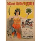 "Original Vintage Italian Poster for ""La Marque Georges Richards"" by PAL ca.1900"
