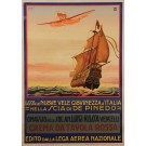 "Original Vintage Italian Poster for ""Crema da Tavola Rossa"" by CAVIGIOL 1918"