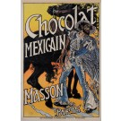 "Original Vintage French Poster Advertising ""Chocolate Mexican"" by Grasset 1892"