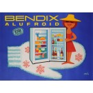 "Original Vintage French Poster Advertising ""Bendix Alufroid"" by Herve Morvan"