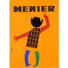 "Original Vintage French Poster for ""Menier"" Chocolate Maquette by Dwriok"