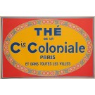 "Original Vintage French Poster Advertising ""The de la Cie. Coloniale"" Tea 1930's"