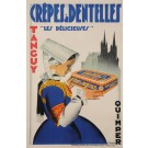 "Original Vintage French Poster for ""Crepes a Denteslles"" by R. Dansler 1930's"