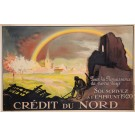 "Original Vintage French Poster for ""Emprunt 1920 - Crédit du Nord"" by J. Carlu"