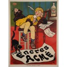 "Original Vintage French Poster Advertising ""Encres Acme"" Ink by Oge 1919"