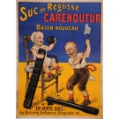 "Original Vintage French Children Poster for ""Carenoutur"" Suc de Reglisse by Oge"