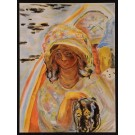 """Original Vintage French Color Lithograph """"Girl with Dog"""" by Pierre Bonnard 1939"""