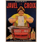 "Original Vintage French Poster for ""Javel la Croix"" Bleach by Oge ca. 1900"