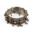 Ethnic Vintage Bracelet Multi-colour Semi-precious Stones