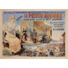 "Original Vintage French 2 PARTS Entertainment Poster for ""La Petite Mionne"" Play by Oge ca. 1891"