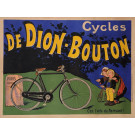 "Original Vintage French Poster for ""Cycles de Dion-Bouton"" by Oge ca. 1900"