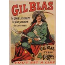 "Original Vintage French Newspaper Poster for ""Gil Blas"" Journal by Oge ca. 1905"