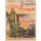"Original Vintage French for ""Le Colonel Roquebrune"" Coquelin by Oge ca. 1900"